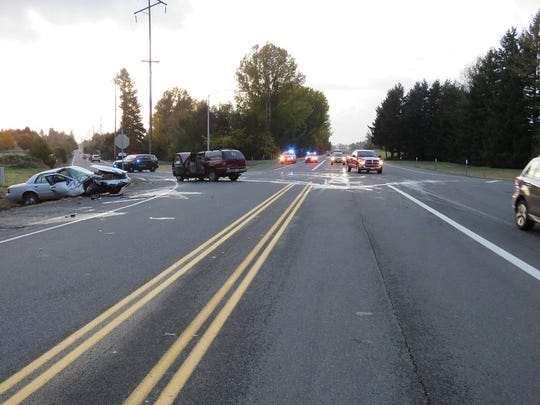 Oregon State Police officers are investigating Saturday's fatal two-vehicle crash on Highway 22 east of Stayton.