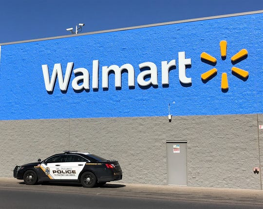 El Paso police arrested a theft suspect with a gun at the Walmart on Gateway West Boulevard near Yarbrough Drive on Sunday, Oct. 20, 2019.