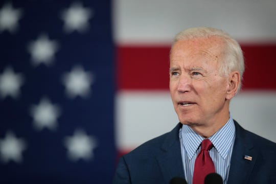 Democratic Presidential candidate former vice president Joe Biden speaks to guests during a campaign stop at the RiverCenter on October 16, 2019 in Davenport, Iowa. Biden spoke heavily about what he perceived as President Donald Trump's failures in foreign policy during the event. The 2020 Iowa Democratic caucuses will take place on February 3, 2020, making it the first nominating contest in the Democratic Party presidential primaries