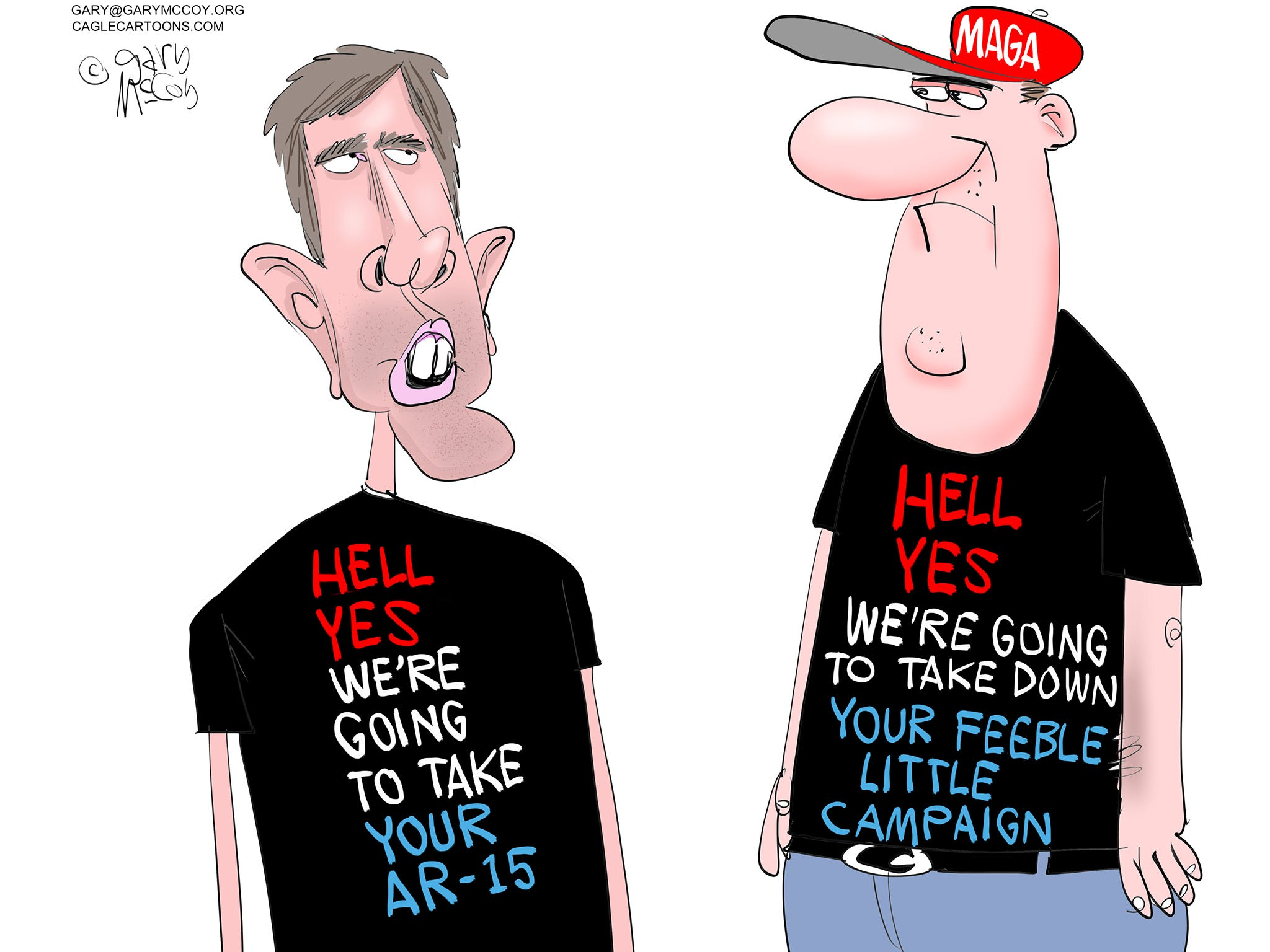 Hell, yes, Beto O'Rourke: Today's Toon