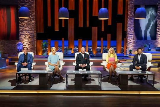"The ""Shark Tank"" sharks: Mark Cuban, Barbara Corcoran, Kevin O'Leary, Lori Greiner, Rohan Oza"