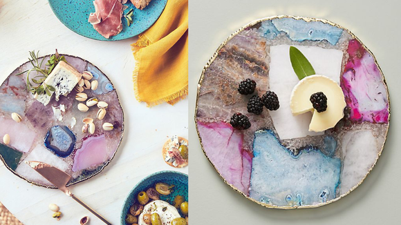 Best gifts for couples of 2019: Anthropologie Composite Agate Cheese Board
