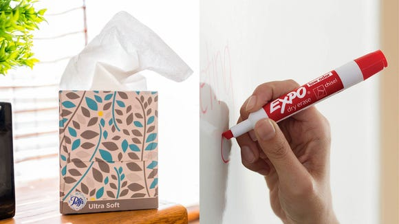 Best gifts for teachers 2019: Puffs Ultra Soft Facial Tissues and Expo Dry Erase Markers