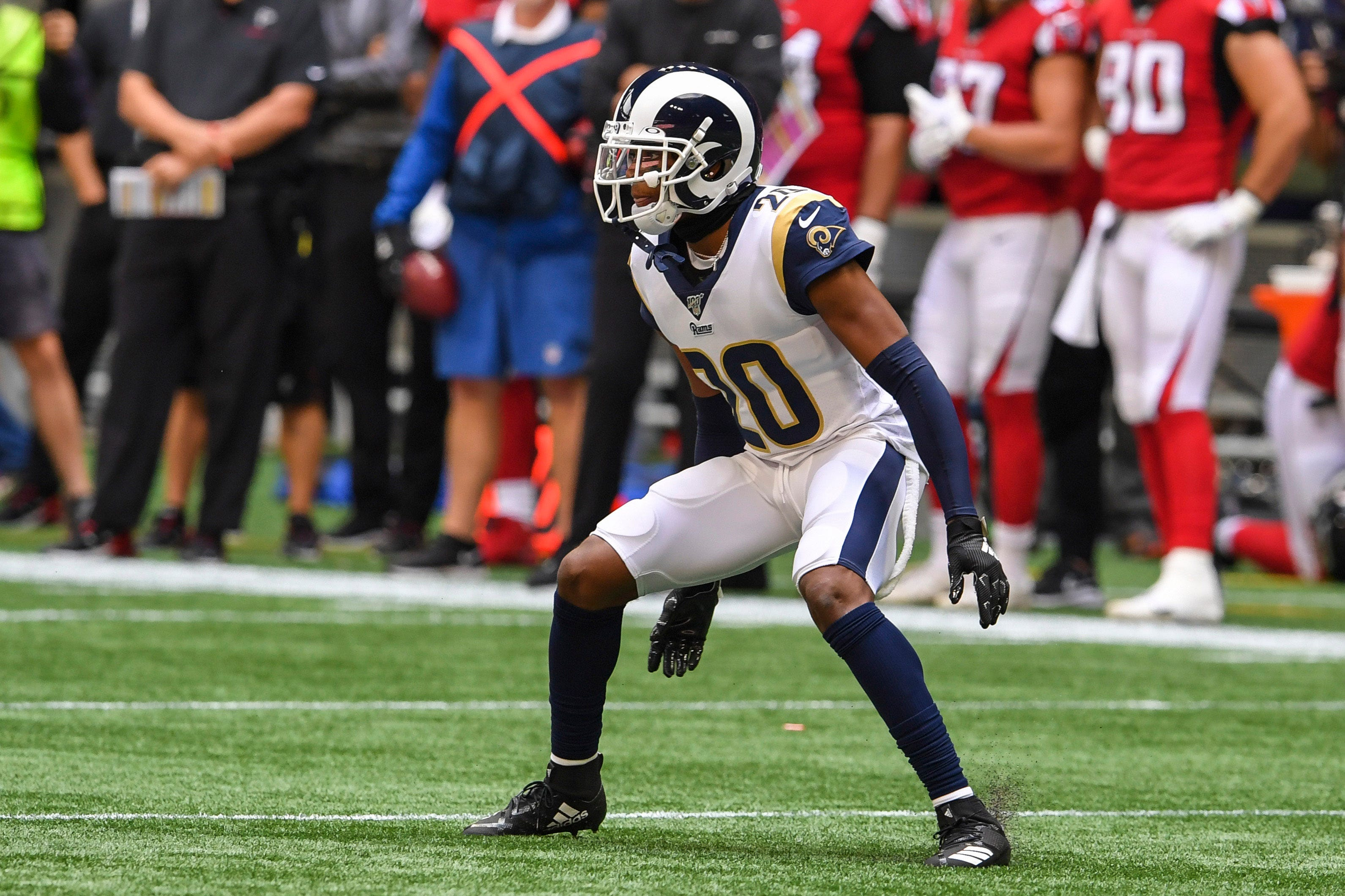 Rams rout reeling Falcons in Jalen Ramseys first game after trade