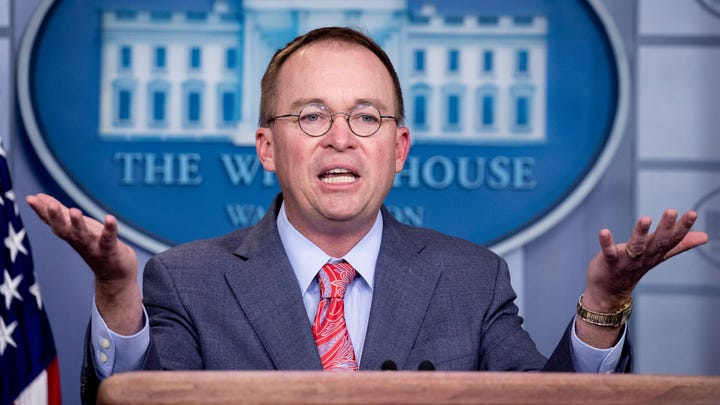 Acting White House Chief of Staff Mick Mulvaney holds a news conference in the James Brady Press Briefing Room of the White House, in Washington, Oct. 17, 2019.