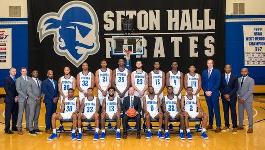 Seton Hall basketball 2019-20 team photo