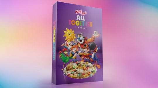 "Kellogg Co. has released their ""All Together"" cereal on Thursday in support of the LQBTQ community."