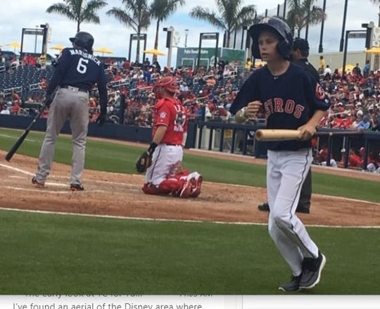 Robert Varnes, 16, of Satellite High has been the batboy for the Washington Nationals and, lately, the Houston Astros at their combined spring training facility, the FITTEAM Ballpark of the Palm Beaches.