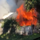 Firefighters battle blaze at Mims home; no injuries reported