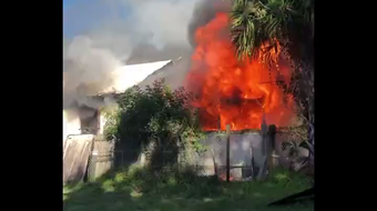 Brevard County Fire Rescue and the Titusville Fire Department responded to a fire in a home on East Main Street in Mims Oct. 20, 2019.
