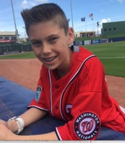 Satellite High's Robert Varnes, now 16, has been a batboy for the Washington Nationals and Houston Astros at the Palm Beach spring training facility.