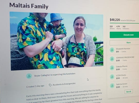 A GoFundMe aims to raise $50,000 for the Maltais family.