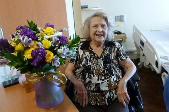 Marie Jordan Speer, a Corpus Christi resident who founded the Gold Star Wives in 1945, is pictured in 2013. She died Saturday, Oct. 19, 2019, at 98.