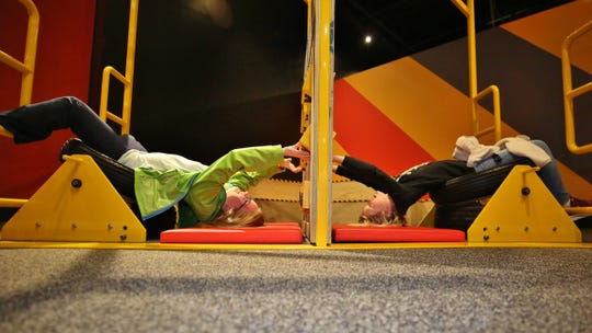 Kids on opening day discover what being upside-down can do to their perceptions.