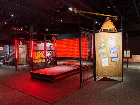 Want to learn how to jump between moving train cars? A Mount Laurel firm designed this portion of the 'Worst-Case Scenario' experience at the Franklin Institute in Philadelphia.