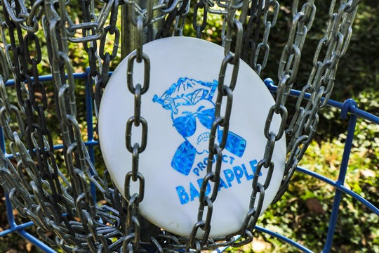 The new disc golf course in Yoctangee Park was the effort of Project Bad Apple, a local nonprofit group that focuses on getting young people outside and in nature.