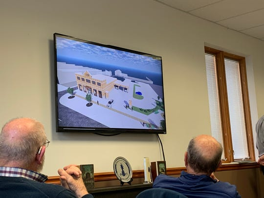 During an Oct. 17 Chillicothe Design and Review Board meeting, architects for LCNB National Bank showed a 3D model of what the new site may look like.