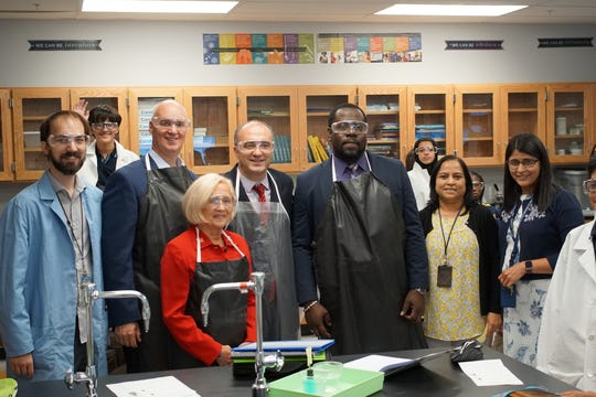 TEECS welcomed special guests, Somerset County Freeholder Patricia Walsh and President of Somerset County Association of Police Chiefs, William Parenti, to the school.