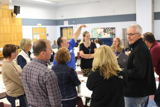 District employees actively engaged during the Strategic Planning session