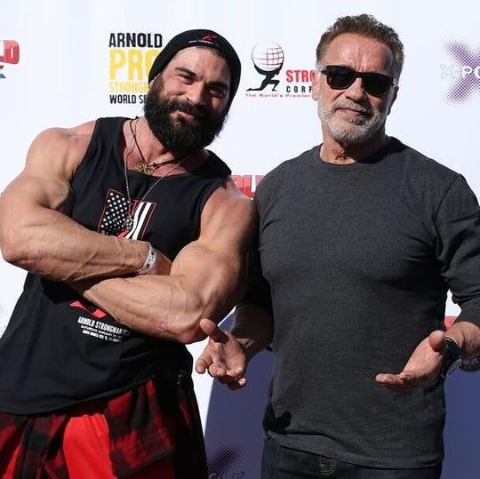 Brett Azar and Arnold Schwarzenegger