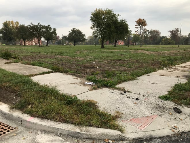 What to do with all the vacant property in Detroit remains a huge challenge. This site was shot from the intersection of McClellan and Pontiac on the city's east side on Oct. 21, 2019.