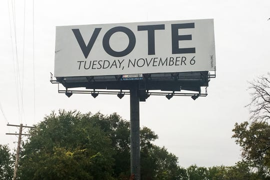 A billboard along I-75 in southwest Detroit that gives the wrong date for the upcoming 2019 election. The non-profit organization that sponsored the billboard - vote.org - is dedicated to increasing voter turnout. Officials with the group said the billboard was left over from the 2018 election and will be taken down this week.