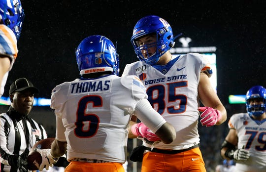 Boise State lost its first game of the season Saturday at BYU. The Broncos (6-1) are idle this week.