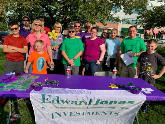 Edward Jones associates and family members in Midland participate in the 2019 Walk to End Alzheimer's.