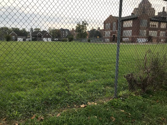 The estimate of 24 square miles of vacant land in Detroit does not include untended parks or the playgrounds of vacant schools like this one off McClellan on the city's east side, photographed on Oct. 21, 2019.