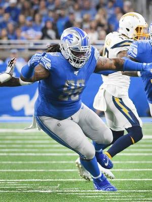 "Lions' Damon ""Snacks"" Harrison has 15 tackles this season."