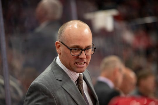 """Red Wings head coach Jeff Blashill says the team's power play """"hasn't been good."""""""
