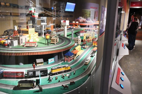 The Detroit Historical Museum's Glancy Trains display features an impressive model train layout.