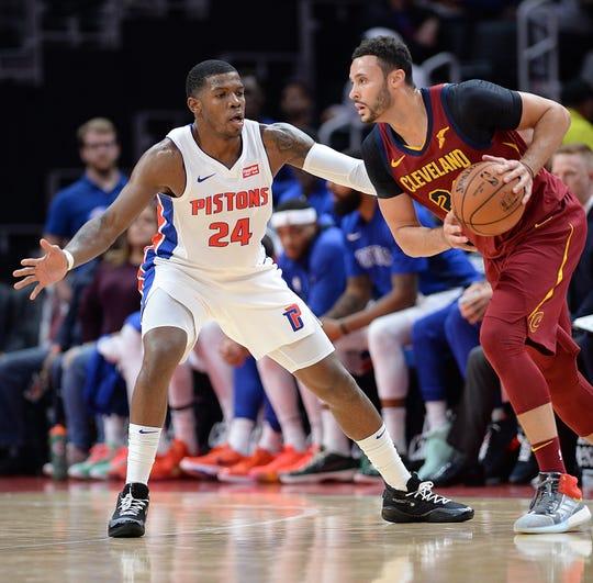 NBA veteran Joe Johnson (24) was waived by the Pistons on Monday.