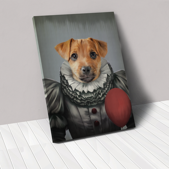 Crown & Paw, a custom pet good company that makes canvas portraits, is offering a limited edition Halloween collection. Pictured is the Pennywise Custom Pet Canvas.