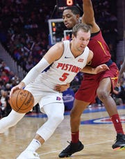 Luke Kennard likely won't crack the Pistons' starting lineup to open the season.