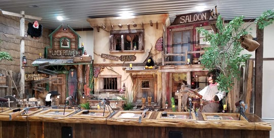 Before or after dinner at the Westwood Saloon, try your hand at the attached shooting gallery.