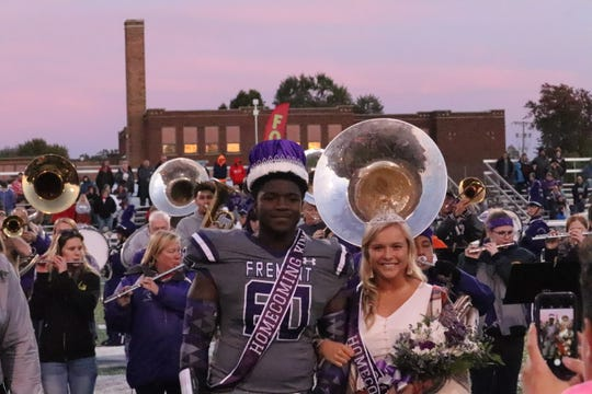 Ross homecoming king and queen, Dontrez Brown and Isabelle Held.