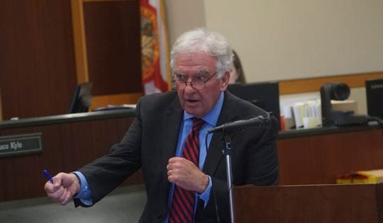 Donald McFarlane, one of Jimmy Ray Rodgers' attorneys gives closing statements during the trial for Jimmy Ray Rodgers on  Monday, October, 21, 2019. Rodgers is charged in the murder of Dr. Teresa Sievers.