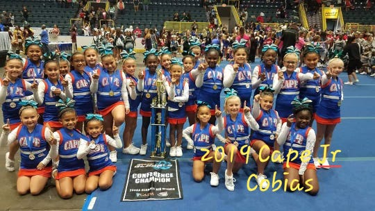All five of the Cape Junior cheer squads won conference titles, including the Cobias.