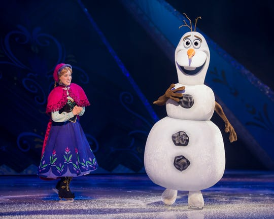 "Characters from ""Frozen"" will be part of the cast of ""Disney on Ice Presents Dream Big"" Feb. 20-23 at the Resch Center in Ashwaubenon."