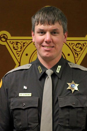 This undated photo released by Gallatin County Sheriff's Office shows deputy Jake Allmendinger. Authorities say the Montana county deputy has been killed in a vehicle accident on an icy mountain road while responding to a report of a stranded vehicle. The Bozeman Daily Chronicle reports 31-year-old Deputy Allmendinger died Saturday, Oct. 19, 2019, in Bozeman.