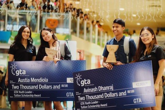 Avinash Dhanraj and Austia Mendiola were named GTA Youth Leaders over the weekend.