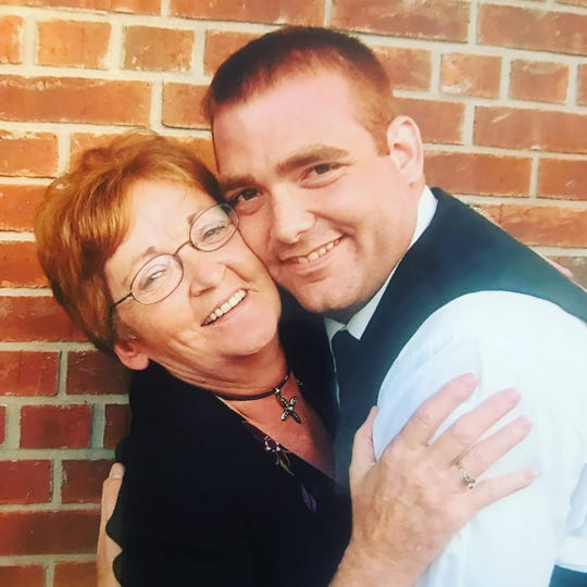 """Former IU player Tom Coverdale and his mom, Mary Anne. """"She was the sweetest, kindest woman you'd ever meet,"""" he said."""