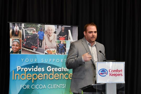 Tom Coverdale told the story of his mom's battle with Alzheimer's disease earlier this year at a CICOA breakfast.