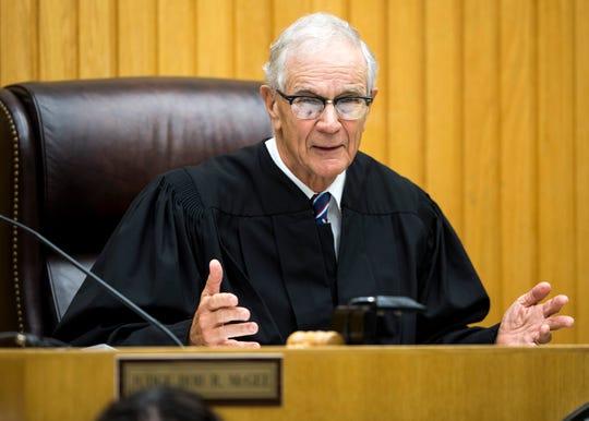 Senior Judge Walter Kurtz during a hearing for Lemaricus Davidson in Knox County Criminal Court on Monday, October 21, 2019.