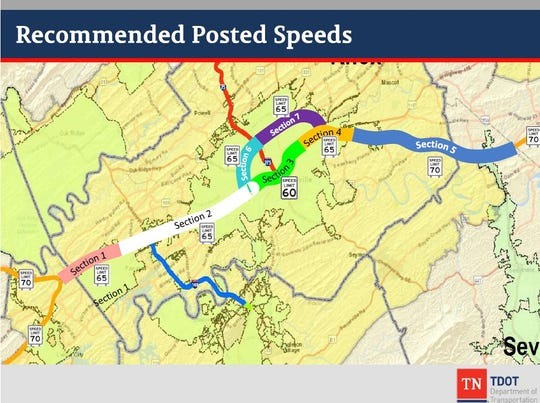 New speed limits on highways around Knoxville