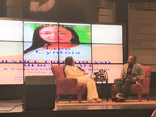 Cyntoia Brown-Long shares her life story at New Direction Christian Church nearly three months after her release from prison and five days after her memoir publication on Oct. 20, 2019.
