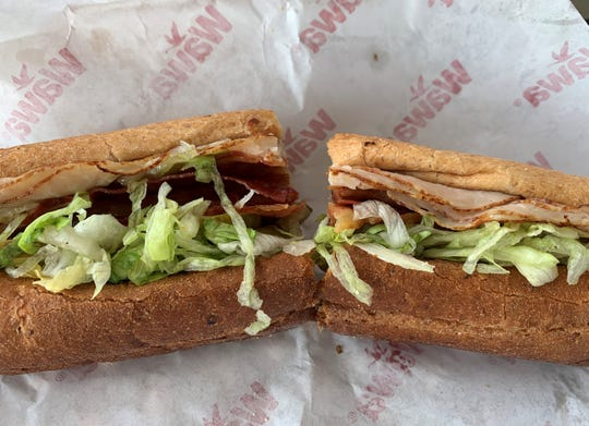 The spicy Cajun turkey sub with bacon from Wawa, South Naples.