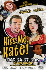 "MTSU Theatre students present the classic Broadway musical ""Kiss Me, Kate"" in Tucker Theatre Oct. 24-27."