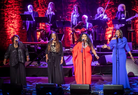 The McCrary Sisters perform during the Medallion Ceremony at the Country Music Hall of Fame Sunday, October 20, 2019.